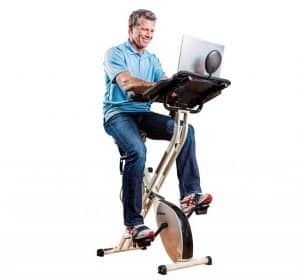 FitDesk and Office Workstation with Massage Bar