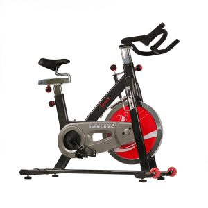 Sunny Health & Fitness 49 Lb Chromed Flywheel, Silent Belt Drive Indoor