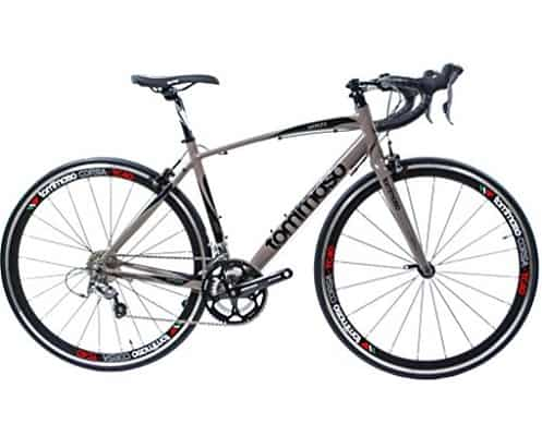 Tommaso Monza Endurance Aluminum Road Bike, Carbon Fork, Shimano Tiagra