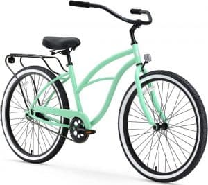 sixthreezero Around the Block Women's Cruiser with Rear Rack (24-Inch, 26-Inch, and