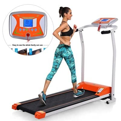 ANCHEER Folding Treadmill, Electric Running Machine with LCD Monitor