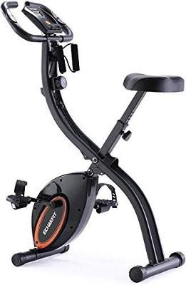 ECHANFIT Indoor Folding Magnetic Exercise Upright Bike