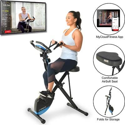 Exerpeutic Bluetooth Smart Foldable with Resistance Bands