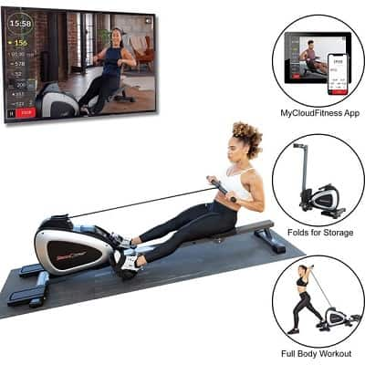 Fitness Reality 1000 Plus Bluetooth Magnetic Rower Rowing Machin