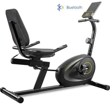 Merax Magnetic Recumbent Exercise Bike with Bluetooth