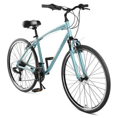 Retrospec Barron Comfort Hybrid Bike 21-Speed with Front Suspension and 700c Wheels