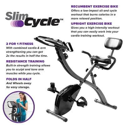 Slim Cycle Folding Stationary Bike