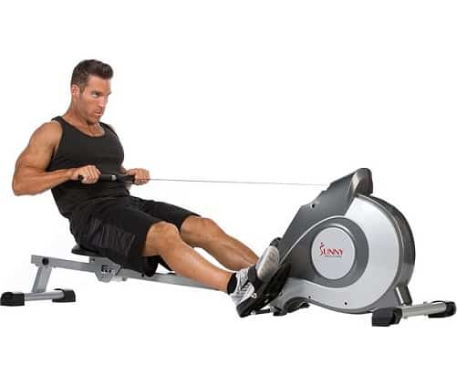 Sunny Health & Fitness SF-RW5515 Magnetic Rowing Machine Rower w LCD Monitor