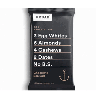 RXBAR, Chocolate Sea Salt, Protein Bar