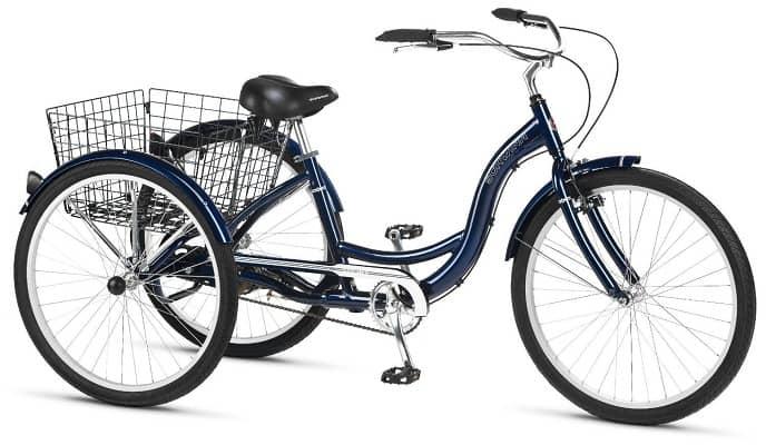 Schwinn Meridian Adult Three Wheel Cruiser Bike