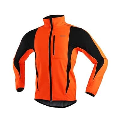 ARSUXEO Winter Warm UP Thermal Softshell Cycling Jacket Windproof Waterproof