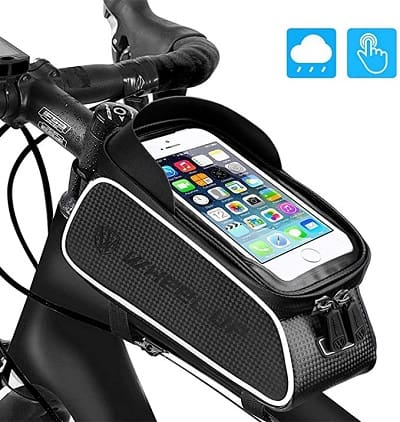 Bike Front Frame Bags, UBEGOOD Bicycle Phone Bags Waterproof