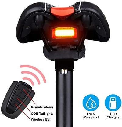 G Keni Bike Tail Light Rechargeable, Anti-Theft Alarm