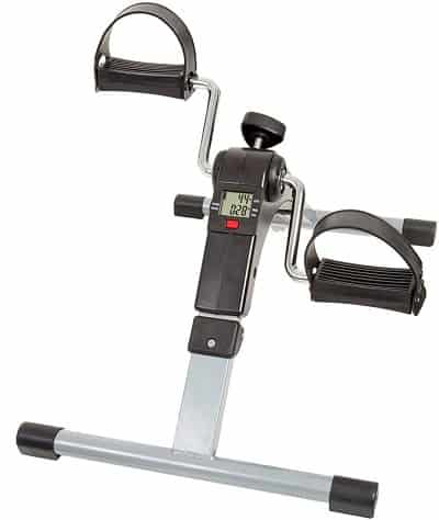Portable Folding Fitness Pedal Stationary Under Desk Indoor Exercise Bike