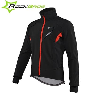 ROCK BROS Winter Cycling Jacket for Men Thermal Fleece Windproof