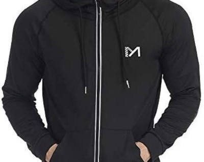 Running Jacket for Men, Long Sleeve Shirt Hooded Track Top Reflective