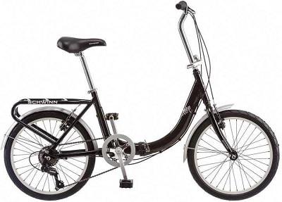 Schwinn Loop Adult Folding Bike, 20-inch Wheels, 7-Speed Drivetrain