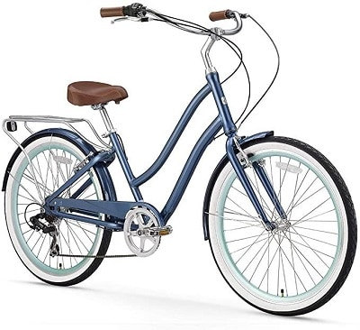 Sixthreezero EVRYjourney Women's 7-Speed Step-Through Hybrid Cruiser Bicycle