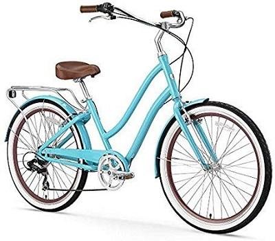 Sixthreezero EVRYjourney Women's 7-Speed Step-Through Hybrid Cruiser Bicycle