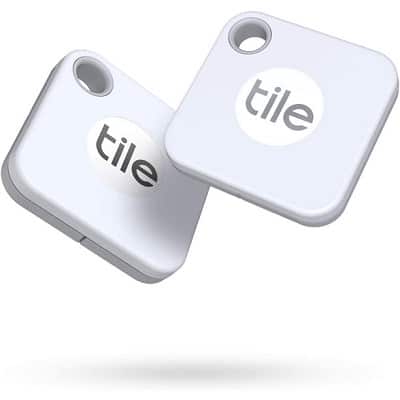 Tile Mate (2020) 2-Pack -Bluetooth Tracker, Keys Finder and Item Locator