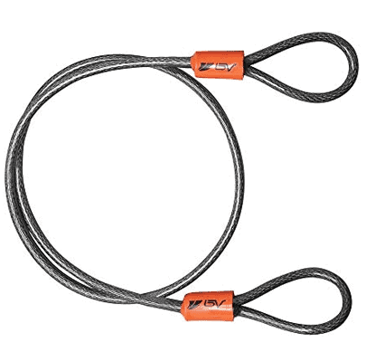 BV 2.5FT, 4FT, 7FT Security Steel Cable, Double Looped Braided Steel