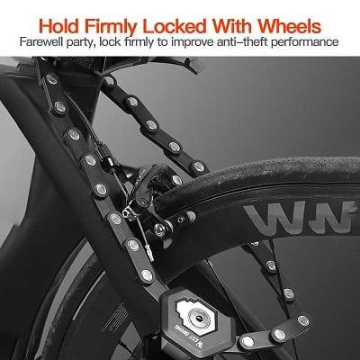 Bike Chain Locks with 3 Keys