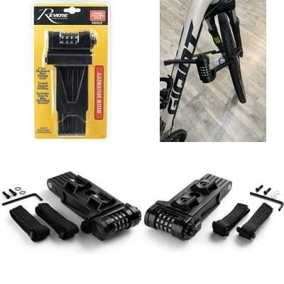 Revere Vault Folding Steel Bike Lock, Uncuttable Combination
