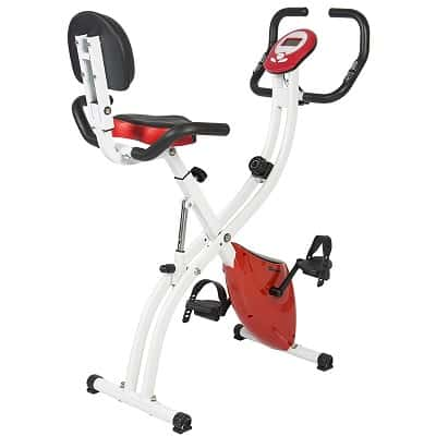 Best Choice Products Folding Upright Exercise Cycling Bicycle for Cardio w-Resistance Knob