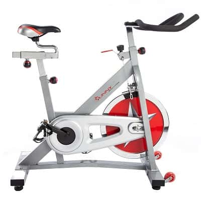 Sunny Health _ Fitness Indoor Cycling Bike with 40 LB Flywheel and Dual Felt Resistance