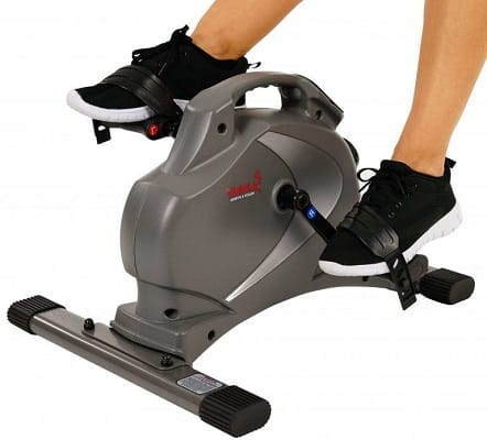 Sunny Health _ Fitness Magnetic Mini Exercise Bike with Digital Monitor and 8 Level Resistance