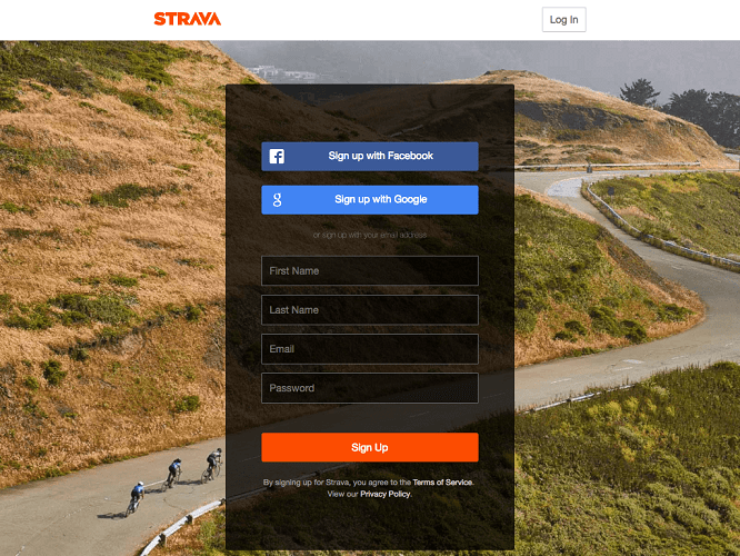 Log-in on Your Account